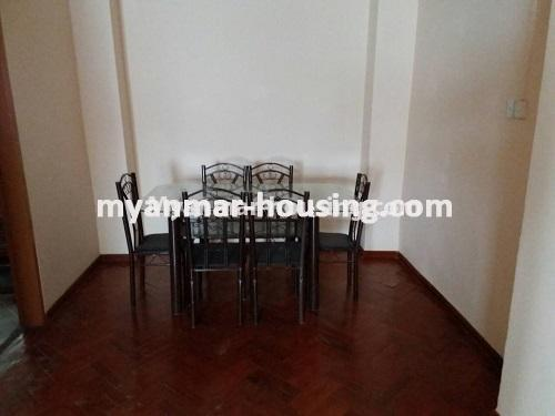 Myanmar real estate - for sale property - No.3275 - Taw Win Thiri Condominium room for sale in Mayangone! - dining area