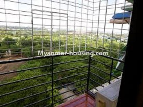 Myanmar real estate - for sale property - No.3275 - Taw Win Thiri Condominium room for sale in Mayangone! - balcony view