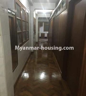 ミャンマー不動産 - 売り物件 - No.3285 - First floor apartment for sale in Downtown. - corridor