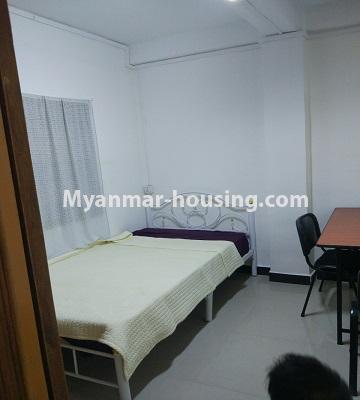 Myanmar real estate - for sale property - No.3295 - Decorated two bedroom condominium unit near Aung Zay Ya Bridge in Insein! - bedroom 1