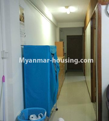 Myanmar real estate - for sale property - No.3295 - Decorated two bedroom condominium unit near Aung Zay Ya Bridge in Insein! - corridor