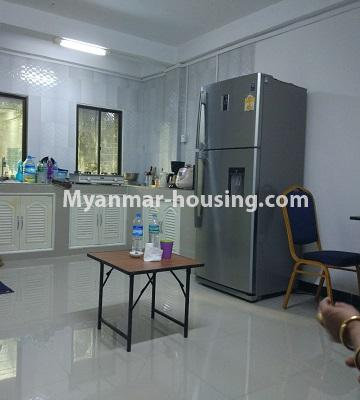 Myanmar real estate - for sale property - No.3295 - Decorated two bedroom condominium unit near Aung Zay Ya Bridge in Insein! - kitchen and dining area