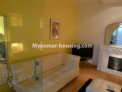 Myanmar real estate - for sale property - No.3296 - A Condominium room with full amenties for sale in Bahan! - living room