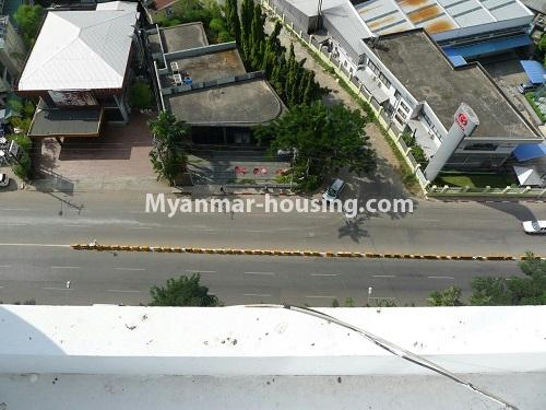 Myanmar real estate - for sale property - No.3296 - A Condominium room with full amenties for sale in Bahan! - road view