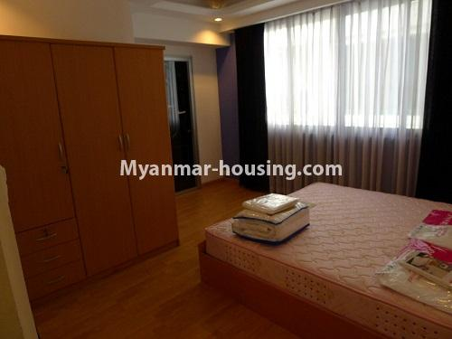Myanmar real estate - for sale property - No.3296 - A Condominium room with full amenties for sale in Bahan! - master bedroom