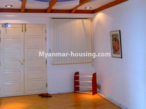 Myanmar real estate - for sale property - No.3296 - A Condominium room with full amenties for sale in Bahan! - main door