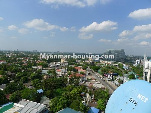 Myanmar real estate - for sale property - No.3296 - A Condominium room with full amenties for sale in Bahan! - out view from the room
