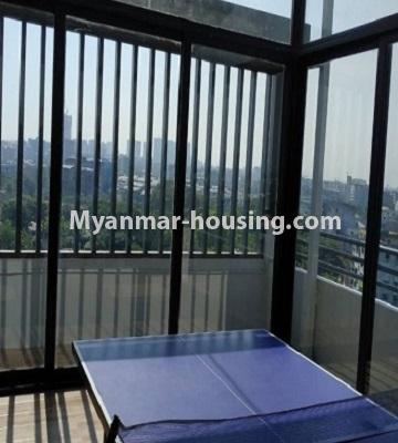 Myanmar real estate - for sale property - No.3297 - Top Floor Condominium room with nice view for Sale in the Thukha Street, Hlaing! - outside place