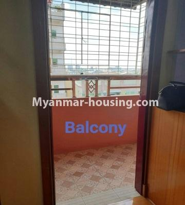 Myanmar real estate - for sale property - No.3301 - New decorated mini condominium room for sale in Zawtika Street, Thin Gan Gyun ! - balcony