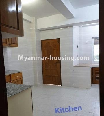 Myanmar real estate - for sale property - No.3301 - New decorated mini condominium room for sale in Zawtika Street, Thin Gan Gyun ! - another view of kitchen