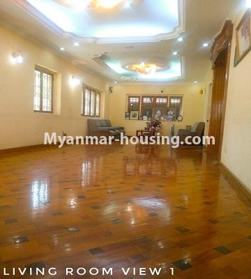 Myanmar real estate - for sale property - No.3302 - A house in a quiet and nice area for sale in Hlaing Thar Yar! - Living room view