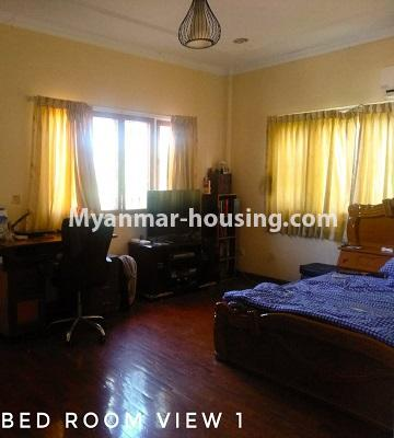 Myanmar real estate - for sale property - No.3302 - A house in a quiet and nice area for sale in Hlaing Thar Yar! - master bedroom view