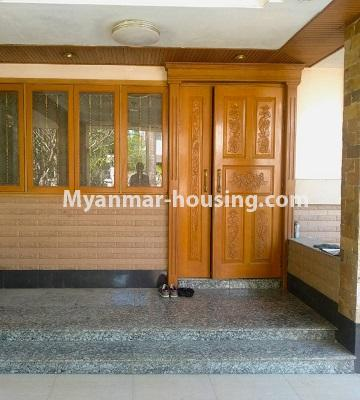 缅甸房地产 - 出售物件 - No.3302 - A house in a quiet and nice area for sale in Hlaing Thar Yar! - main door downstairs