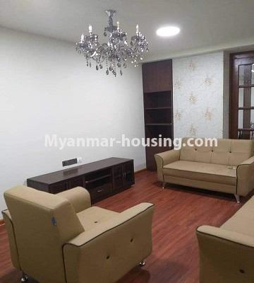 Myanmar real estate - for sale property - No.3303 - Nawarat Condominium building with full facilities for sale in Kamaryut! - living room
