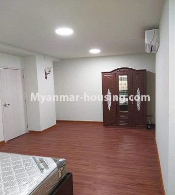 Myanmar real estate - for sale property - No.3303 - Nawarat Condominium building with full facilities for sale in Kamaryut! - another view of master bedroom