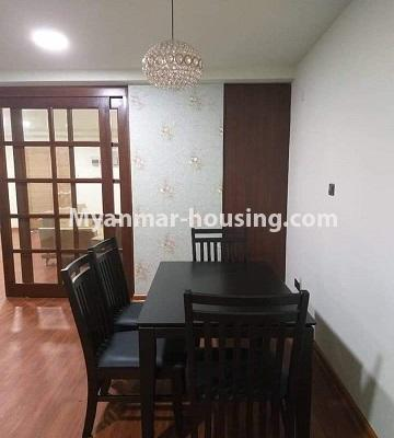 Myanmar real estate - for sale property - No.3303 - Nawarat Condominium building with full facilities for sale in Kamaryut! - dining area