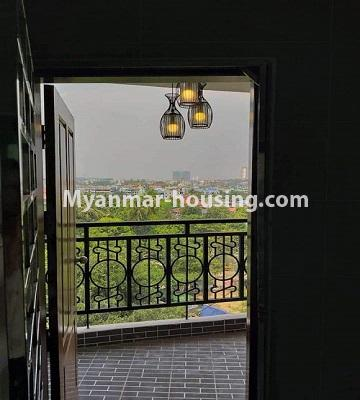 Myanmar real estate - for sale property - No.3303 - Nawarat Condominium building with full facilities for sale in Kamaryut! - balcony