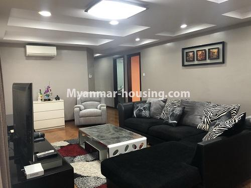 ミャンマー不動産 - 売り物件 - No.3305 - Nice condominium room with beautiful decoration for sale in Dagon! - living room