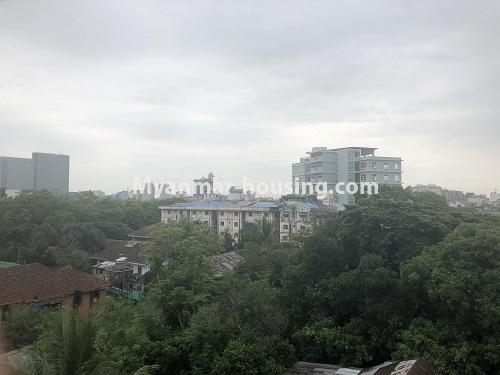 ミャンマー不動産 - 売り物件 - No.3305 - Nice condominium room with beautiful decoration for sale in Dagon! - another outside view fromthe room
