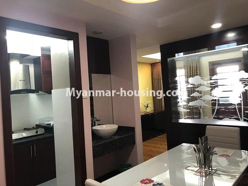ミャンマー不動産 - 売り物件 - No.3305 - Nice condominium room with beautiful decoration for sale in Dagon! - kitchen and dining area