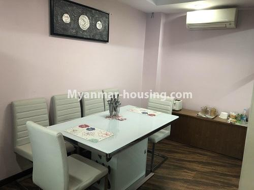 ミャンマー不動産 - 売り物件 - No.3305 - Nice condominium room with beautiful decoration for sale in Dagon! - dining area