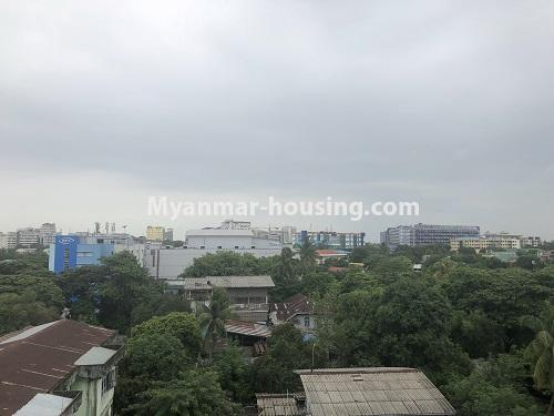 ミャンマー不動産 - 売り物件 - No.3305 - Nice condominium room with beautiful decoration for sale in Dagon! - outside view from the room