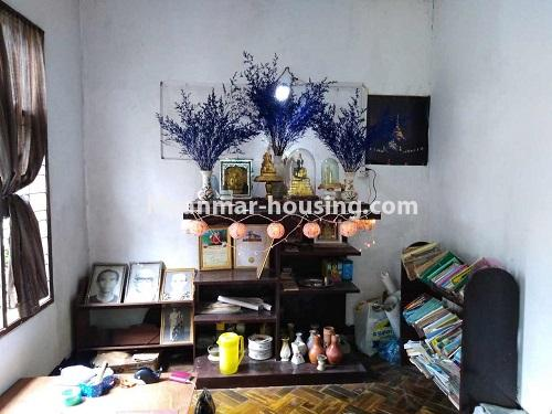 Myanmar real estate - for sale property - No.3310 - A normal landed house with cheaper price in Mayangon! - shrine room