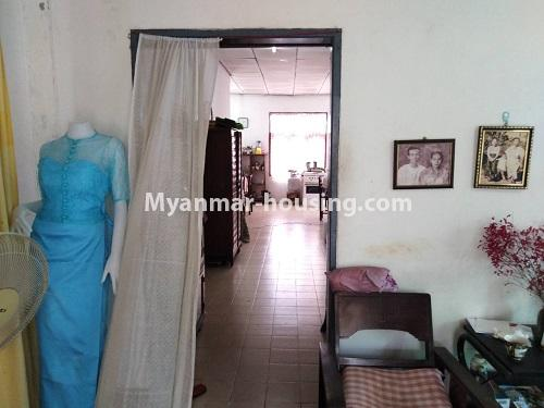 Myanmar real estate - for sale property - No.3310 - A normal landed house with cheaper price in Mayangon! - way to the kitchen from living room