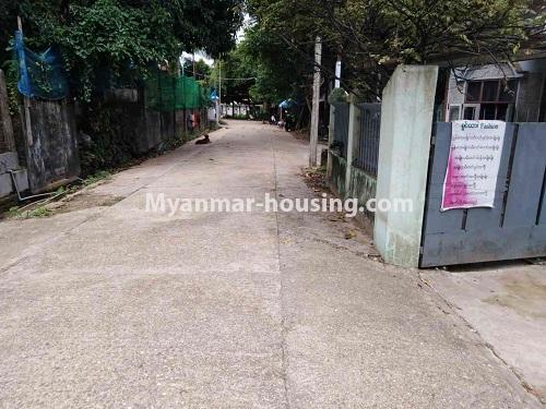 Myanmar real estate - for sale property - No.3310 - A normal landed house with cheaper price in Mayangon! - street view