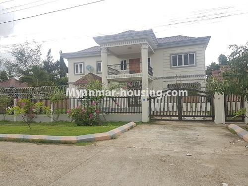 缅甸房地产 - 出售物件 - No.3314 - Two storey landed house with five bedrooms for sale in Nawaday Housing, Hlaing Thar Yar! - house view