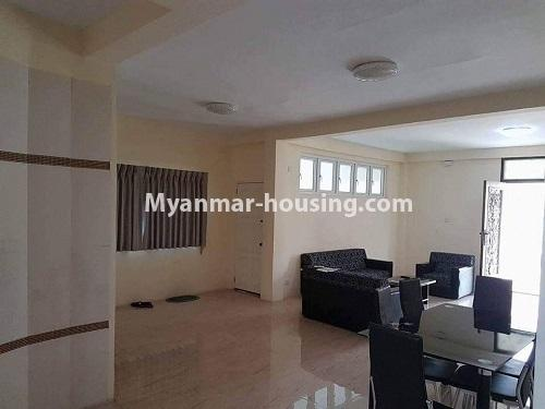 缅甸房地产 - 出售物件 - No.3314 - Two storey landed house with five bedrooms for sale in Nawaday Housing, Hlaing Thar Yar! - Living room view