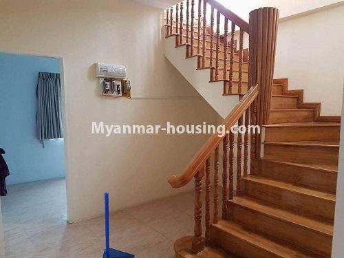 缅甸房地产 - 出售物件 - No.3314 - Two storey landed house with five bedrooms for sale in Nawaday Housing, Hlaing Thar Yar! - stairs to upstairs