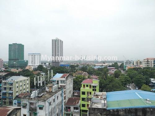 缅甸房地产 - 出售物件 - No.3320 - New Penthouse room for sale in Ahlone! - Asia World Port view
