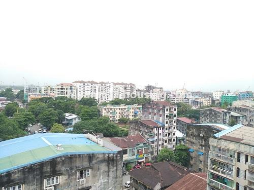 缅甸房地产 - 出售物件 - No.3320 - New Penthouse room for sale in Ahlone! - downtown view