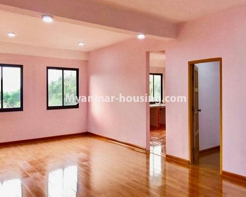 Myanmar real estate - for sale property - No.3322 - Maha Thu Khita Mini Condominium room for sale, in Insein! - living room, kitchen and master bedroom