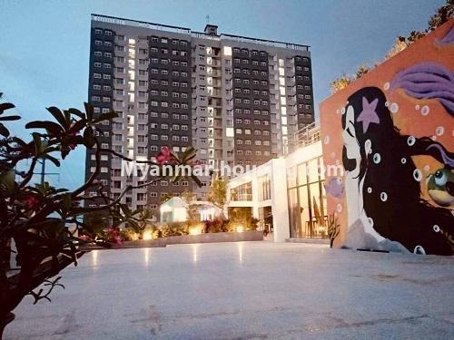 မြန်မာအိမ်ခြံမြေ - ရောင်းမည် property - No.3324 - ဒဂုံဆိပ်ကမ်း ဧရာချမ်းသာ ကွန်ဒိုတွင် အခန်းရောင်းရန် ရှိသည်။ - another view of building