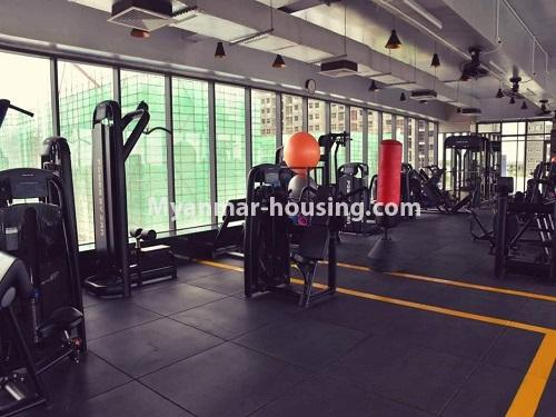 မြန်မာအိမ်ခြံမြေ - ရောင်းမည် property - No.3324 - ဒဂုံဆိပ်ကမ်း ဧရာချမ်းသာ ကွန်ဒိုတွင် အခန်းရောင်းရန် ရှိသည်။ - gym