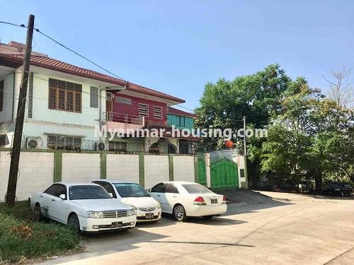 Myanmar real estate - for sale property - No.3328 - Two storey landed house in quiet and peaceful area for sale in Yankin! - road view