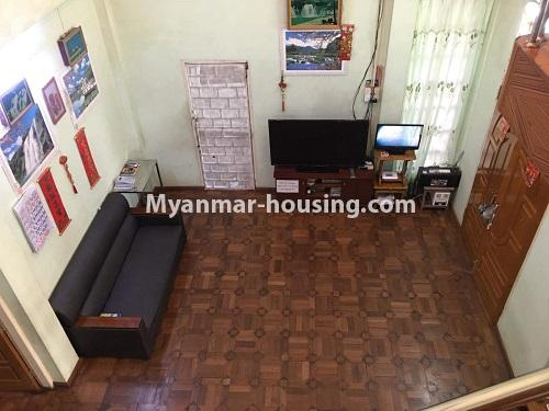 Myanmar real estate - for sale property - No.3328 - Two storey landed house in quiet and peaceful area for sale in Yankin! - Living room view