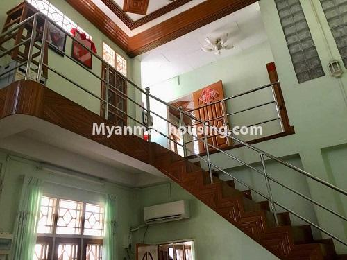 Myanmar real estate - for sale property - No.3328 - Two storey landed house in quiet and peaceful area for sale in Yankin! - stair view