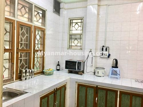 Myanmar real estate - for sale property - No.3328 - Two storey landed house in quiet and peaceful area for sale in Yankin! - kitchen