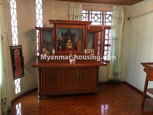 Myanmar real estate - for sale property - No.3328 - Two storey landed house in quiet and peaceful area for sale in Yankin! - prayer room