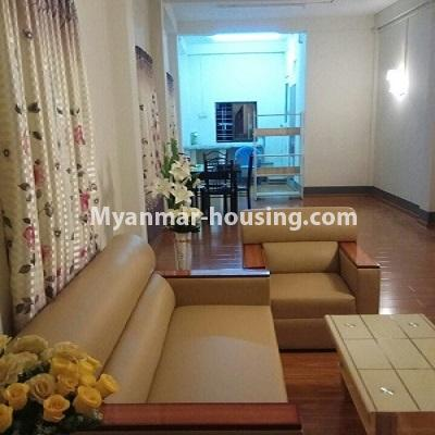 Myanmar real estate - for sale property - No.3332 - Second floor apartment for sale on Baho road, Hlaing! - living room view