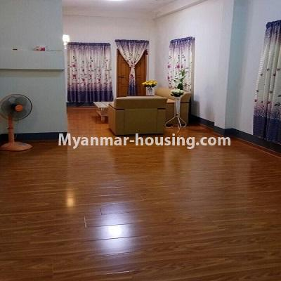 Myanmar real estate - for sale property - No.3332 - Second floor apartment for sale on Baho road, Hlaing! - hall view