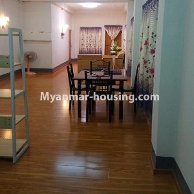 Myanmar real estate - for sale property - No.3332 - Second floor apartment for sale on Baho road, Hlaing! - dining area view