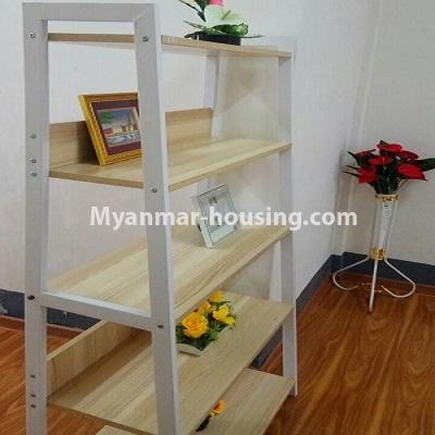 Myanmar real estate - for sale property - No.3332 - Second floor apartment for sale on Baho road, Hlaing! - bookshelf