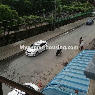 Myanmar real estate - for sale property - No.3332 - Second floor apartment for sale on Baho road, Hlaing! - road view