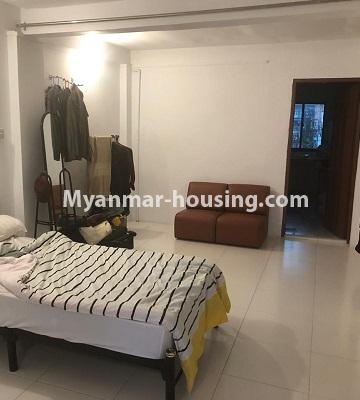 Myanmar real estate - for sale property - No.3341 - Furnished and decorated apartment room for sale in Sanchaung! - sleeping area