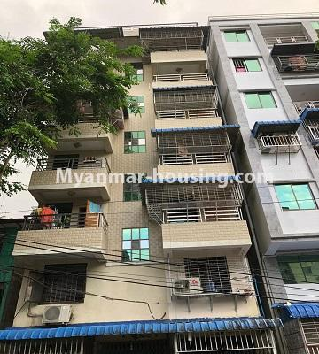 Myanmar real estate - for sale property - No.3341 - Furnished and decorated apartment room for sale in Sanchaung! - building view