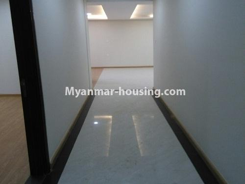 Myanmar real estate - for sale property - No.3346 - Grand Myakanthar Condominium room for sale in Hlaing! - corridor view
